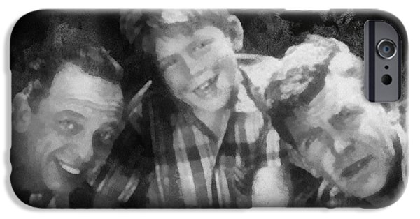 Barney Opie And Andy IPhone Case by Paulette B Wright
