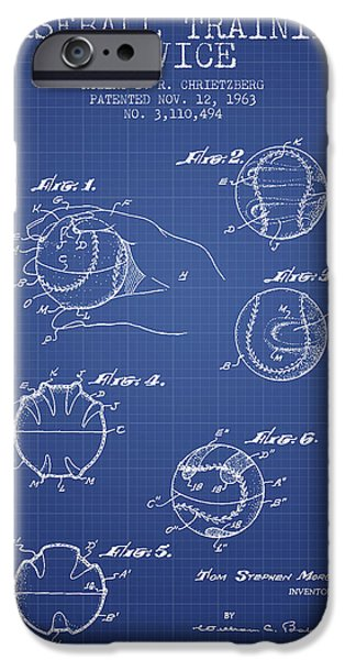 Baseball Cover Patent From 1963- Blueprint IPhone 6s Case