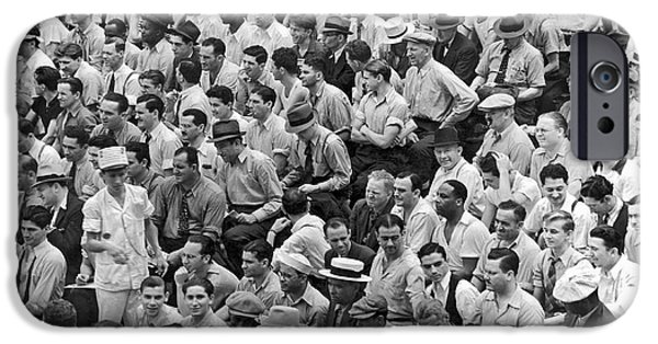 Baseball Fans In The Bleachers At Yankee Stadium. IPhone 6s Case by Underwood Archives