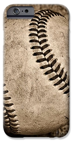 Baseball iPhone 6s Case - Baseball Old And Worn by Paul Ward