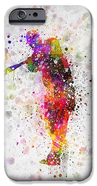 Baseball Player - Taking A Swing IPhone 6s Case by Aged Pixel