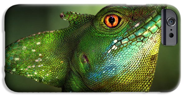 Dragon iPhone 6s Case - Basilisca Verde by Jimmy Hoffman