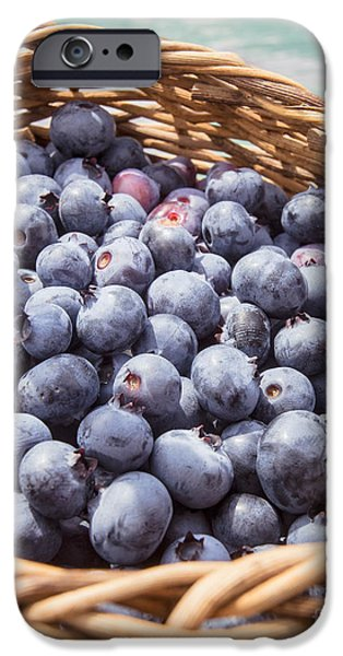 Blue Berry iPhone 6s Case - Basket Of Fresh Picked Blueberries by Edward Fielding