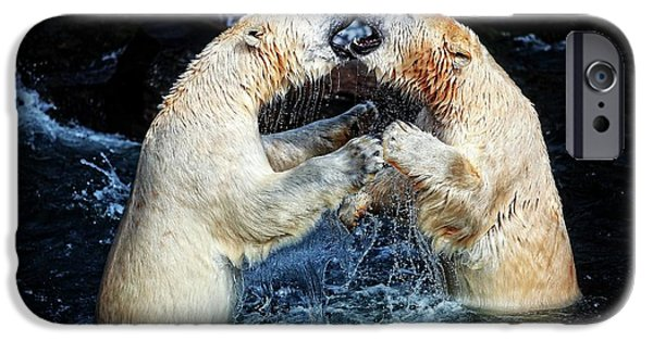Polar Bear iPhone 6s Case - Battle & Kisses .... by Antje Wenner-braun