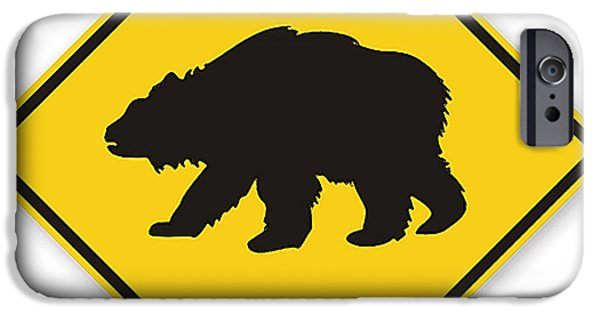 Bear Crossing Sign IPhone 6s Case