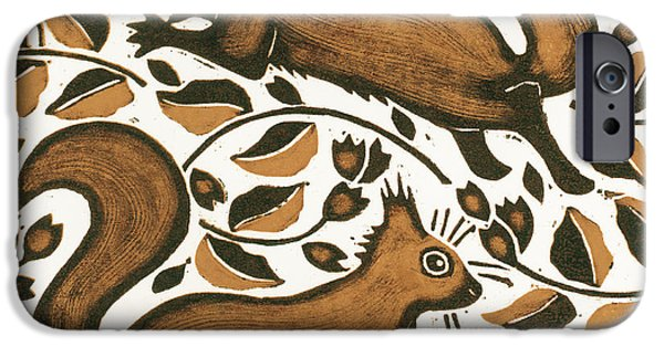 Beechnut Squirrels IPhone Case by Nat Morley