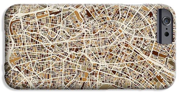 Berlin Germany Street Map IPhone 6s Case by Michael Tompsett