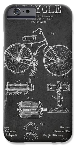Bicycle iPhone 6s Case - Bicycle Patent Drawing From 1891 by Aged Pixel