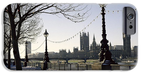 Big Ben Westminster Abbey And Houses Of Parliament In The Snow IPhone 6s Case by Robert Hallmann