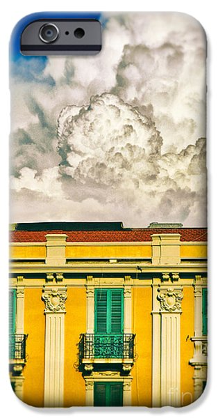 IPhone 6s Case featuring the photograph Big Cloud Over City Building by Silvia Ganora