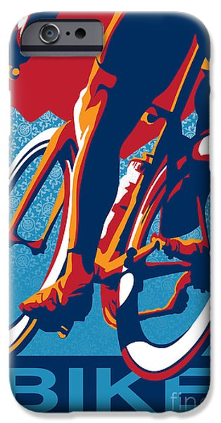 Bicycle iPhone 6s Case - Bike Hard by Sassan Filsoof