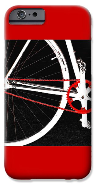 Bicycle iPhone 6s Case - Bike In Black White And Red No 2 by Ben and Raisa Gertsberg
