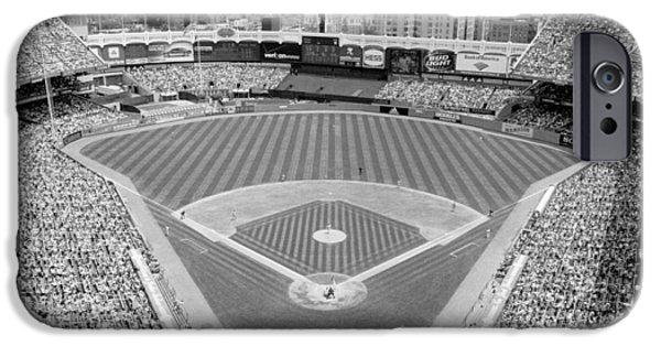 Yankee Stadium iPhone 6s Case - Black And White Yankee Stadium by Horsch Gallery