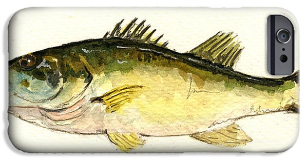 Smallmouth Bass iPhone 6s Case - Black Bass Fish by Juan  Bosco