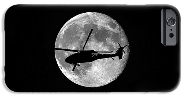 Helicopter iPhone 6s Case - Black Hawk Moon by Al Powell Photography USA
