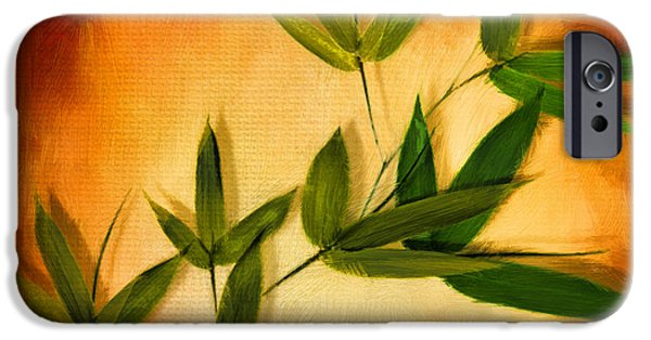 Blooming Leaves IPhone Case by Lourry Legarde