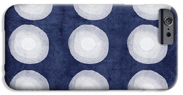 Niagra Falls iPhone 6s Case - Blue And White Shibori Balls by Linda Woods