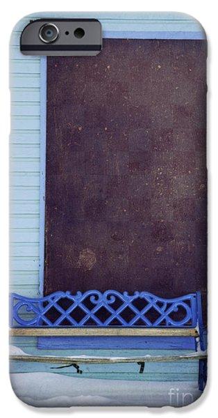 Blue Bench IPhone Case by Priska Wettstein