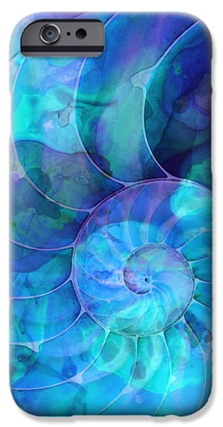 Miami iPhone 6s Case - Blue Nautilus Shell By Sharon Cummings by Sharon Cummings