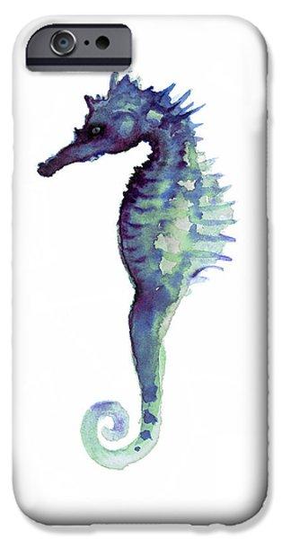 Blue Seahorse IPhone 6s Case by Joanna Szmerdt