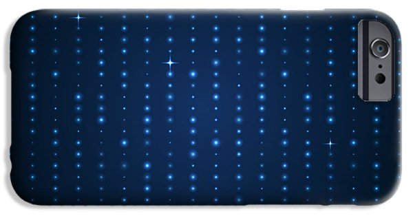 Space iPhone 6s Case - Blue Shining Pattern. Vector Background by Mastak A