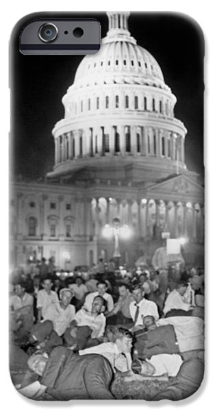 Bonus Army Sleeps At Capitol IPhone 6s Case by Underwood Archives