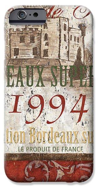 Bordeaux Blanc Label 2 IPhone Case by Debbie DeWitt