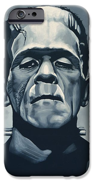 Portraits iPhone 6s Case - Boris Karloff As Frankenstein  by Paul Meijering