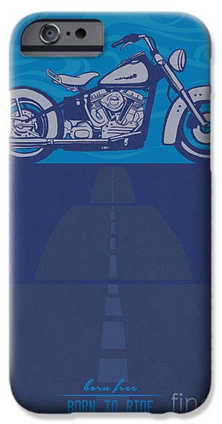 Motorcycle iPhone 6s Case - Born Free Born To Ride by Sassan Filsoof