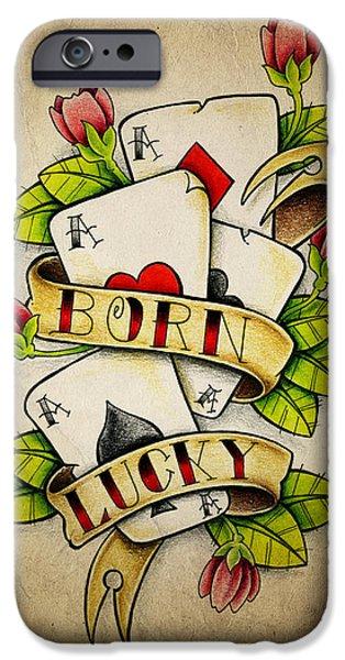 Color Pencil iPhone 6s Case - Born Lucky by Samuel Whitton