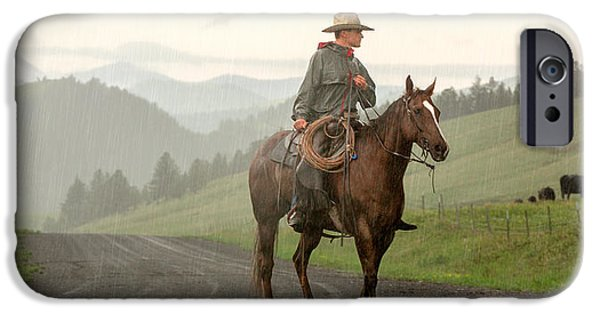 Rural Scenes iPhone 6s Case - Braving The Rain by Todd Klassy