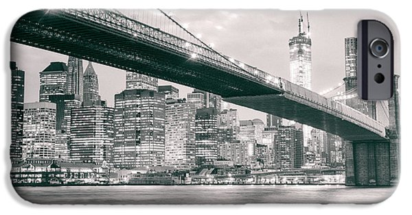 Brooklyn Bridge And New York City Skyline At Night IPhone 6s Case