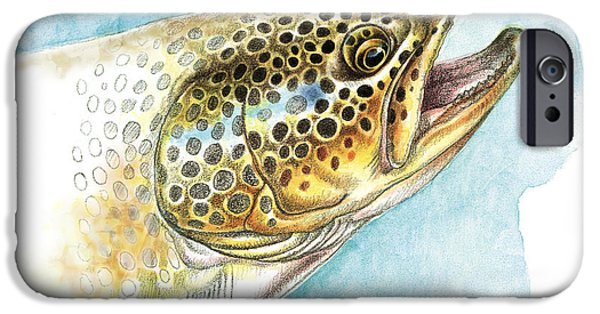 Brown Trout Study IPhone 6s Case by JQ Licensing