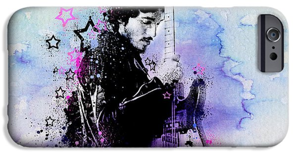 Bruce Springsteen Splats And Guitar 2 IPhone 6s Case by Bekim Art