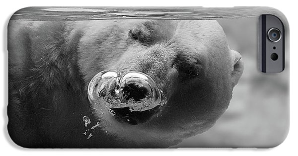 Polar Bear iPhone 6s Case - Bubbles by C.s. Tjandra