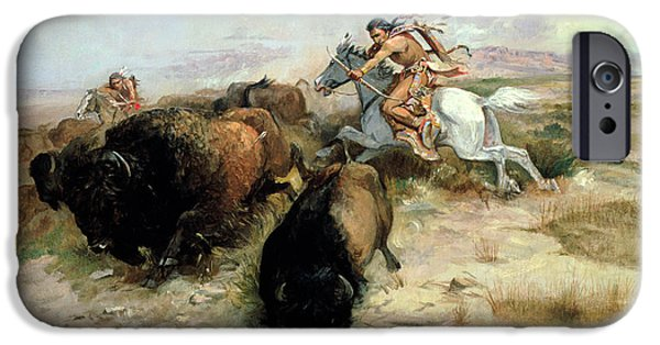 Buffalo iPhone 6s Case - Buffalo Hunt by Charles Marion Russell