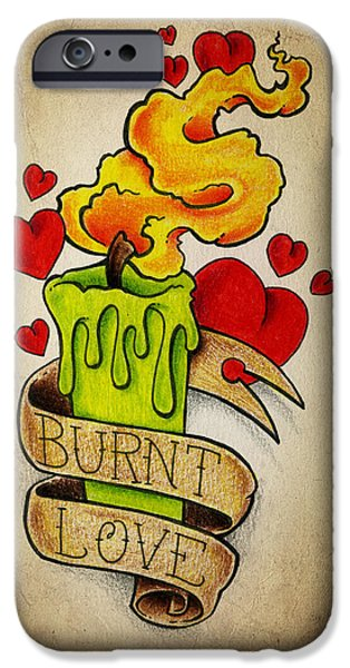 Color Pencil iPhone 6s Case - Burnt Love by Samuel Whitton