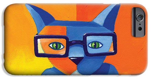 Cat iPhone 6s Case - Business Cat by Mike Lawrence