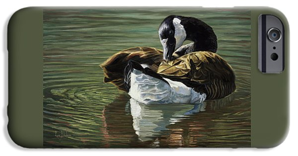 Geese iPhone 6s Case - Canadian Goose by Lucie Bilodeau