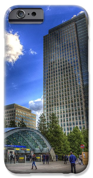 Canary Wharf Station London IPhone 6s Case by David Pyatt
