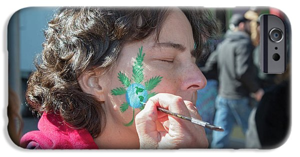 Cannabis Face Painting IPhone 6s Case by Jim West