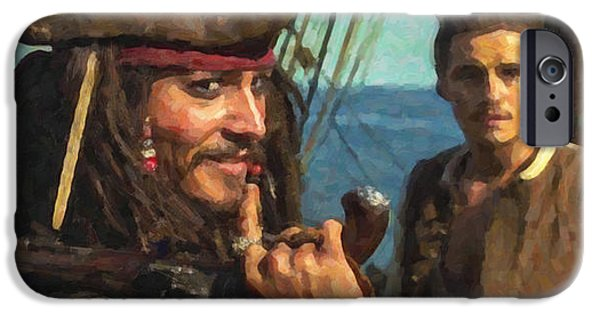 Cap. Jack Sparrow IPhone 6s Case by Himanshu  Dubey