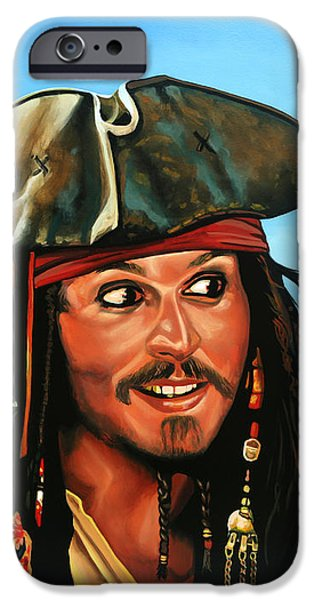 Captain Jack Sparrow Painting IPhone 6s Case by Paul Meijering