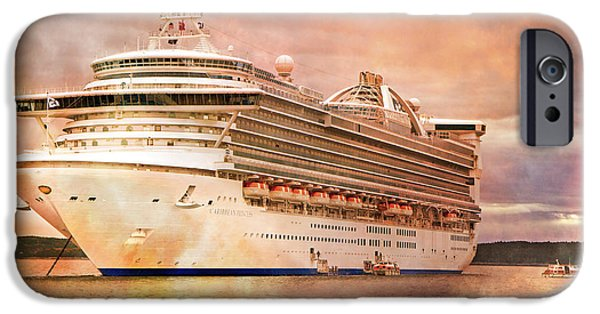 Cruise Ship iPhone 6s Case - Caribbean Princess In A Different Light by Betsy Knapp