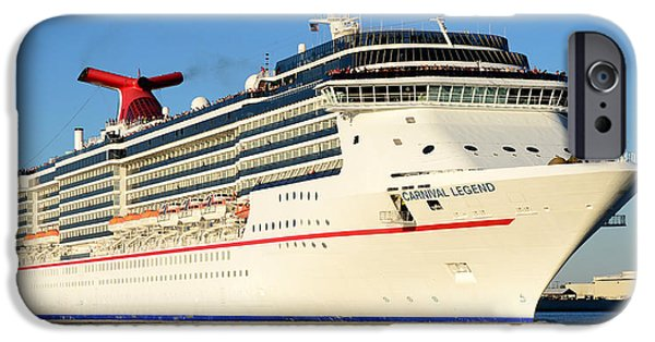 Cruise Ship iPhone 6s Case - Carnival Legend Leaving Tampa Florida by David Lee Thompson