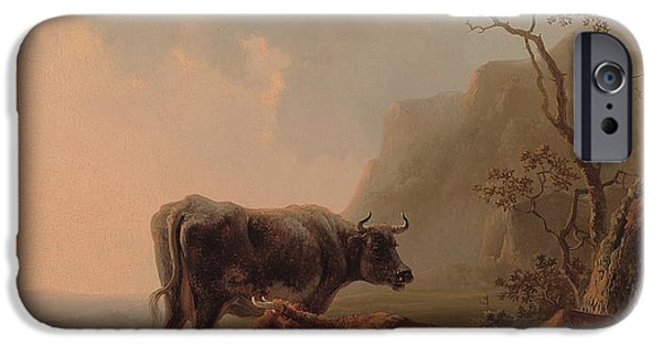 Cow iPhone 6s Case - Cattle In An Italianate Landscape by Jacob van Strij
