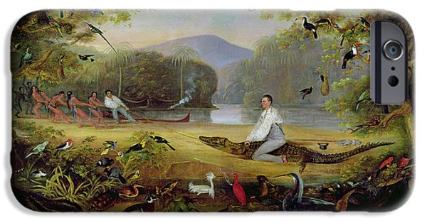 Alligator iPhone 6s Case - Charles Waterton Capturing A Cayman, 1825-26 by Captain Edward Jones
