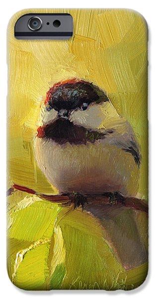 Chickadee iPhone 6s Case - Chatty Chickadee - Cheeky Bird by Karen Whitworth