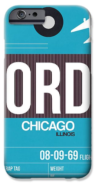 Chicago iPhone 6s Case - Chicago Luggage Poster 1 by Naxart Studio