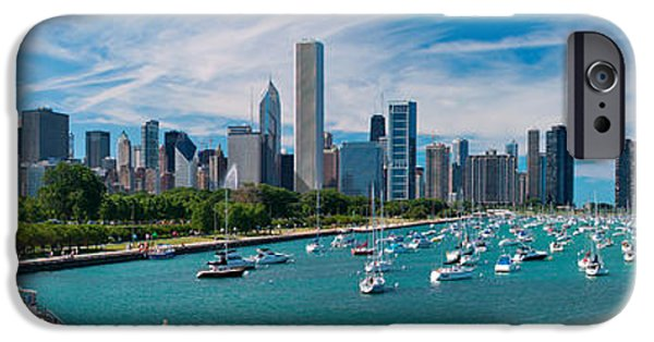 Cities iPhone 6s Case - Chicago Skyline Daytime Panoramic by Adam Romanowicz